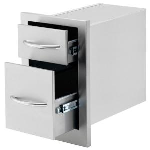 Click here to buy Cal Flame Outdoor Kitchen Stainless Steel 2-Drawer Storage by Cal Flame.