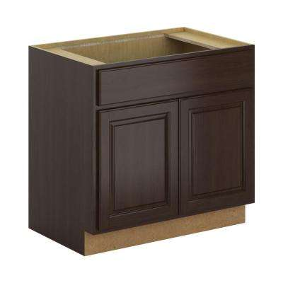 Madison Assembled 36x34.5x24 in. Sink Base Cabinet in Espresso