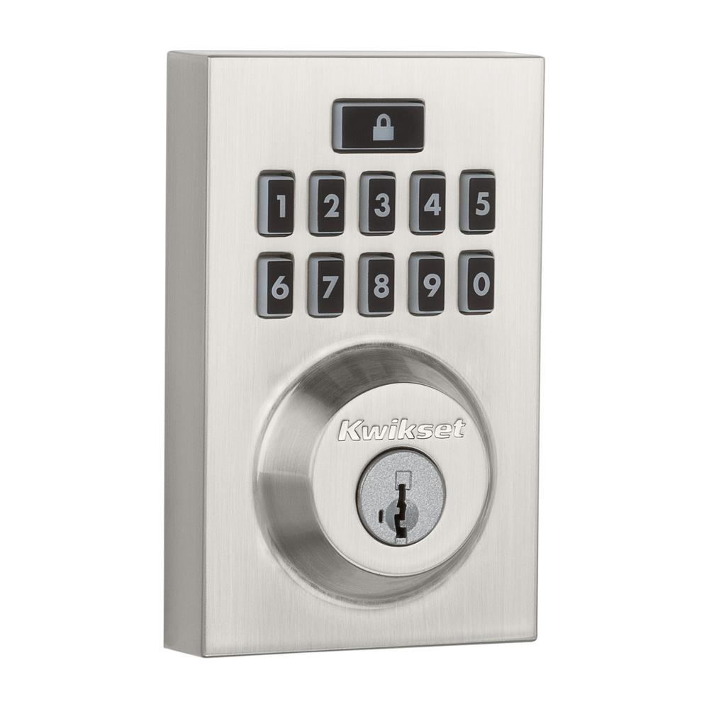 SmartCode 913 Contemporary Satin Nickel Single Cylinder Electronic Deadbolt