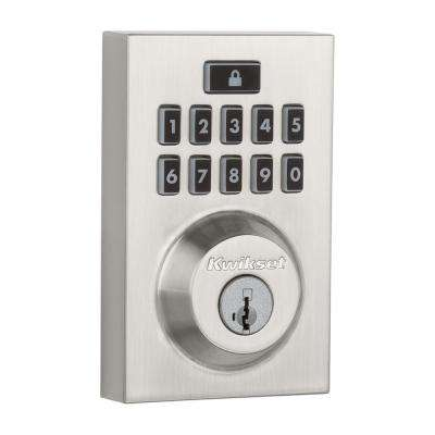 SmartCode 913 Contemporary Satin Nickel Single Cylinder Electronic Deadbolt Featuring SmartKey Security
