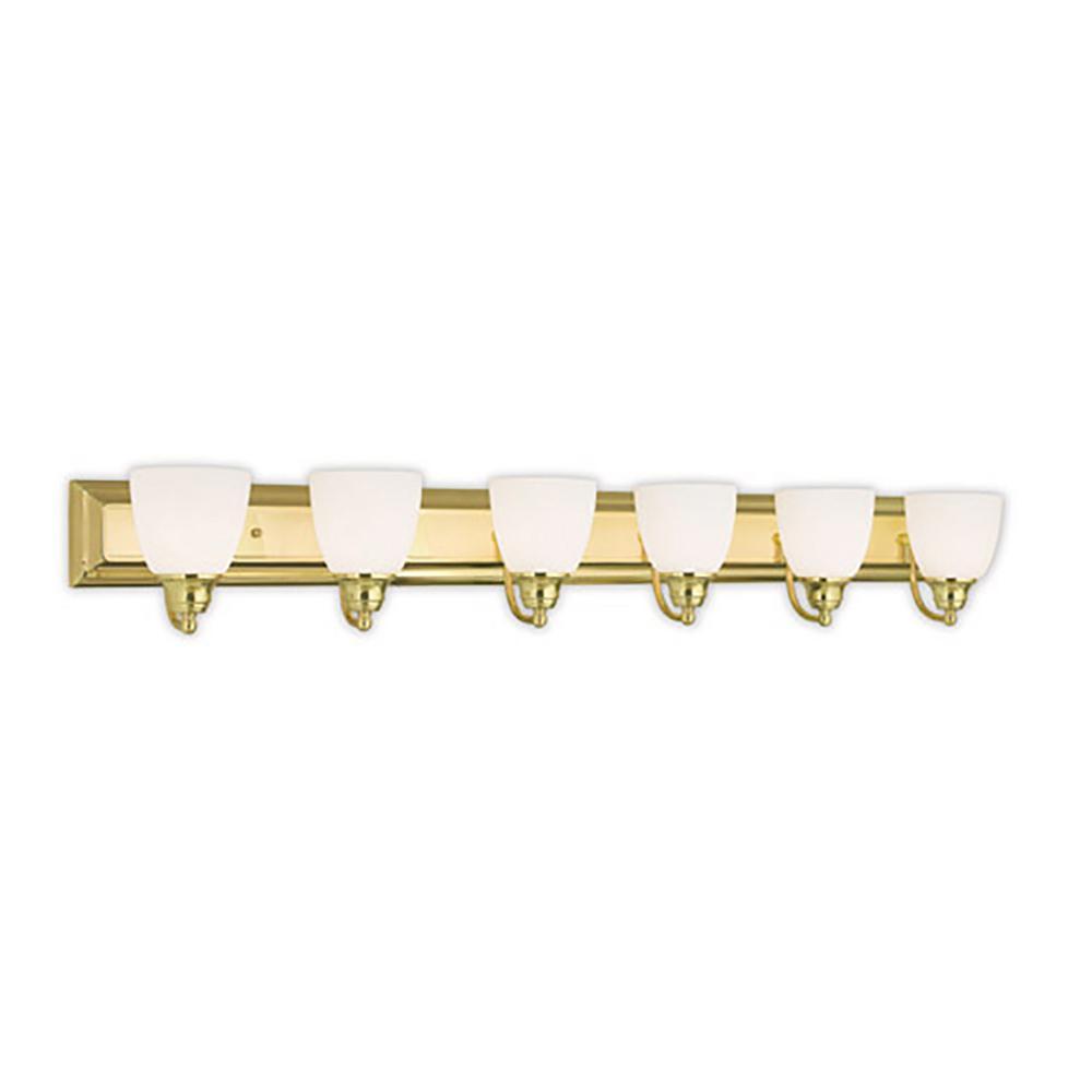 Springfield 6-Light Polished Brass Bath Light