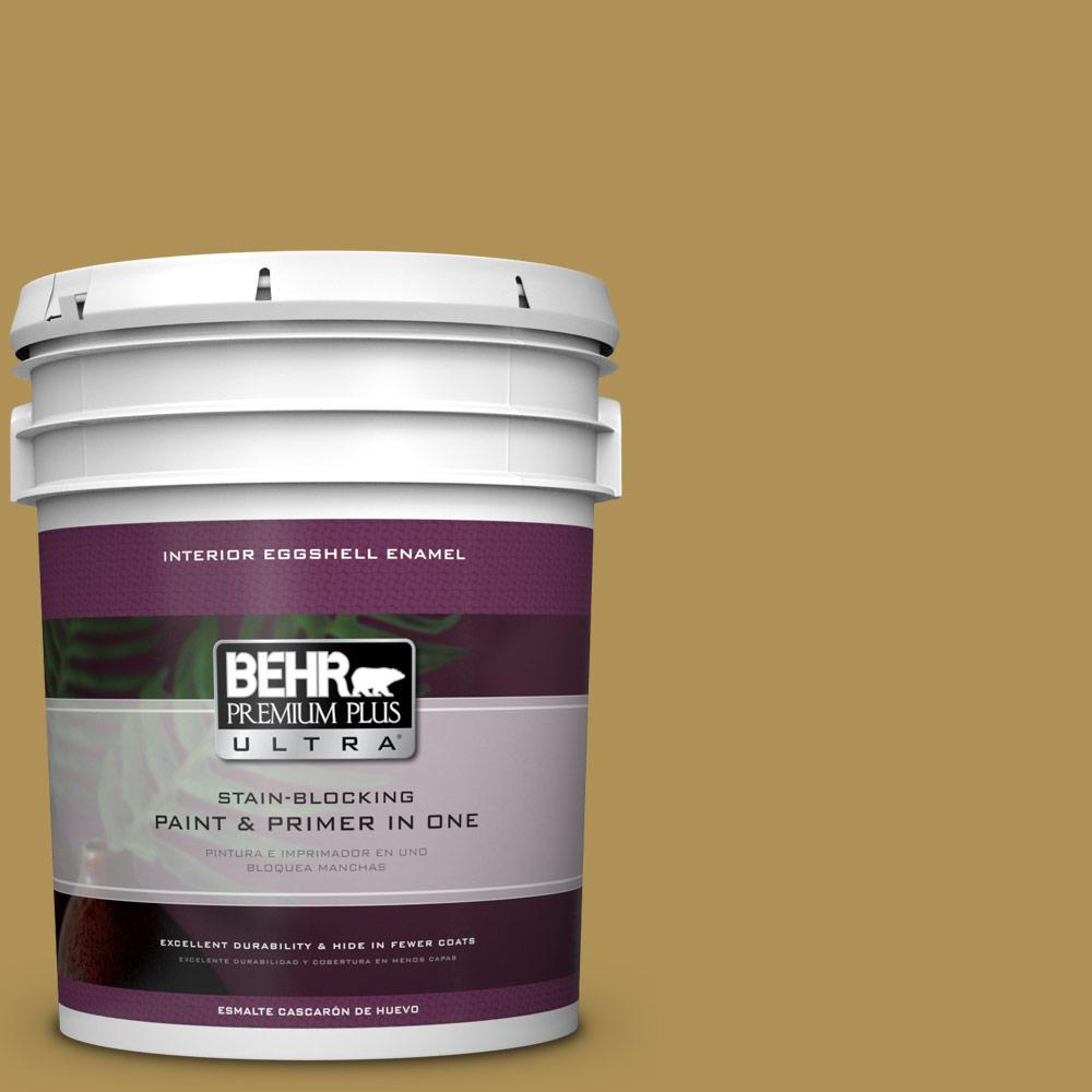 5 gal. #HDC-FL14-7 Asian Pear Eggshell Enamel Interior Paint