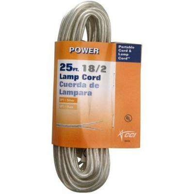 25 ft. 18/2 Silver Stranded CU SPT-1 Lamp Wire