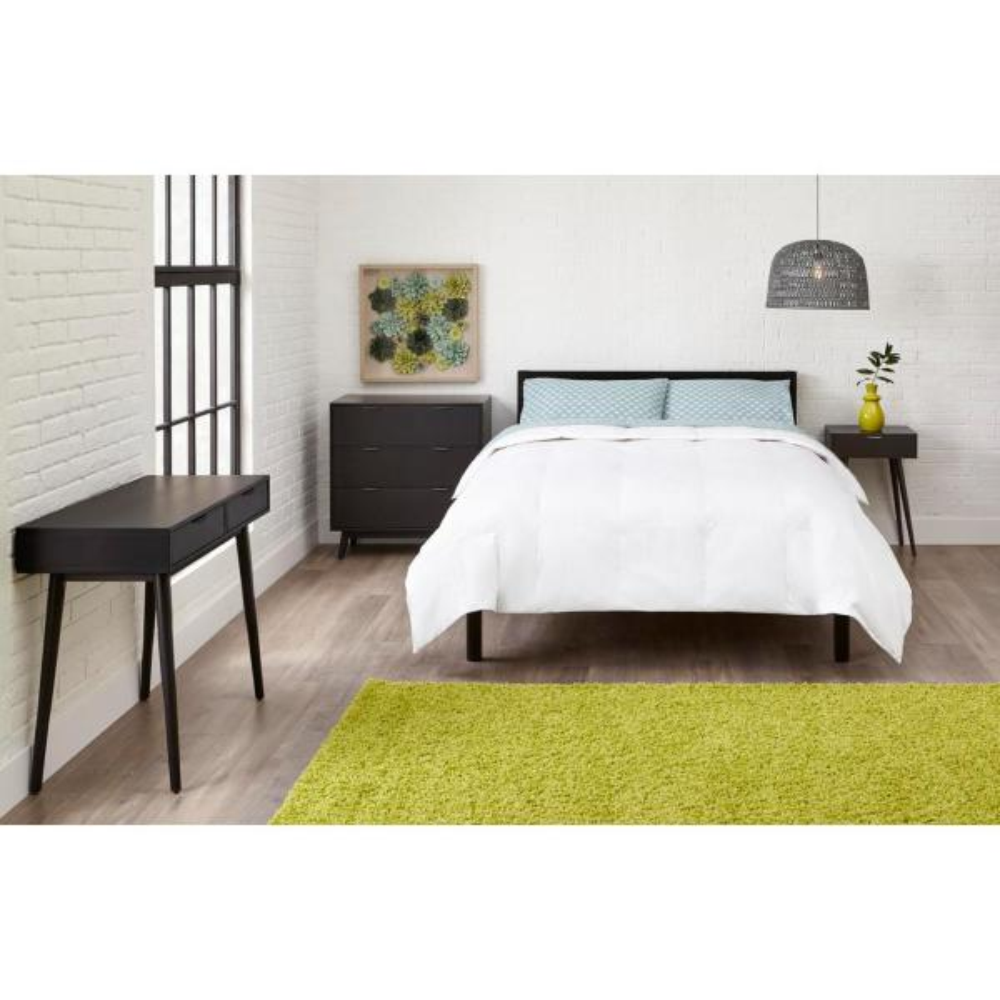 StyleWell Medium Weight Down Alternative Cotton White Full/Queen Comforter