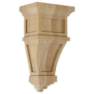 4 in. x 6 in. x 11 in. Unfinished Wood Pine Alpine Corbel