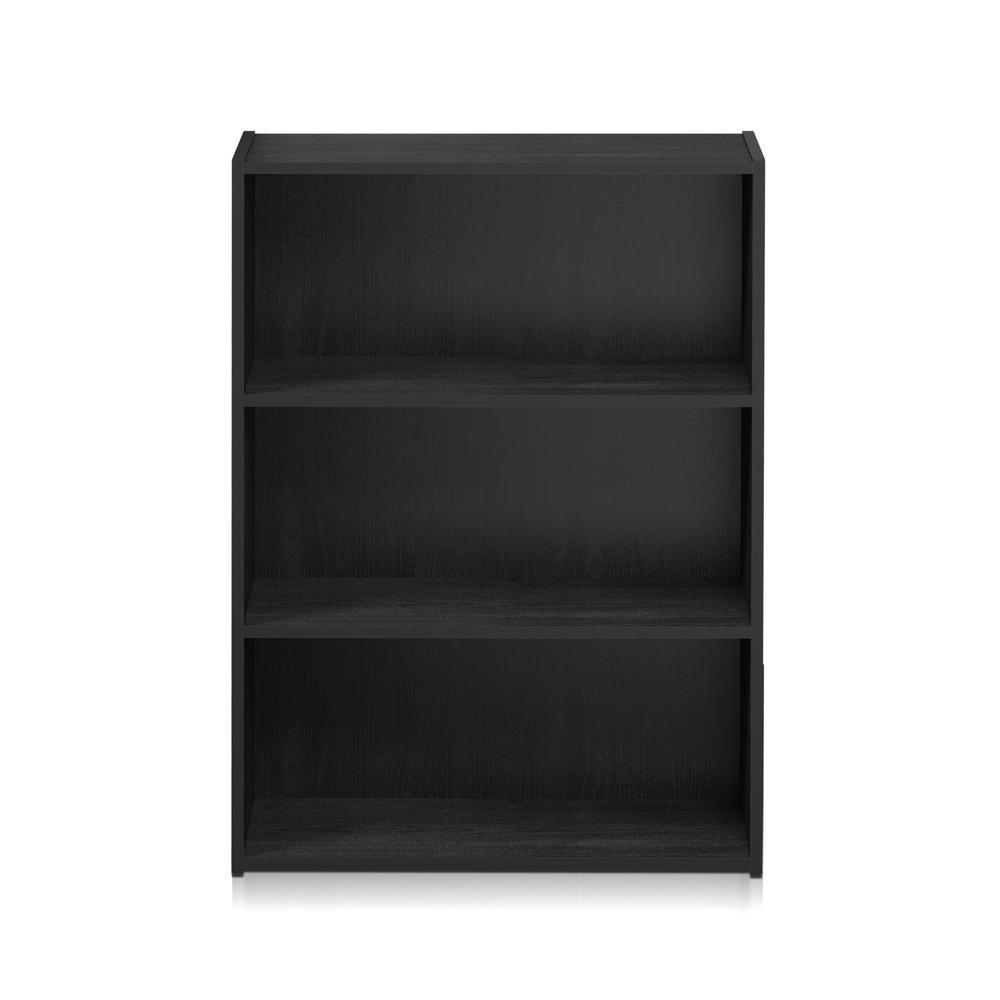 Furinno Pasir Americano 3-Shelf Bookcase with Open Shelves
