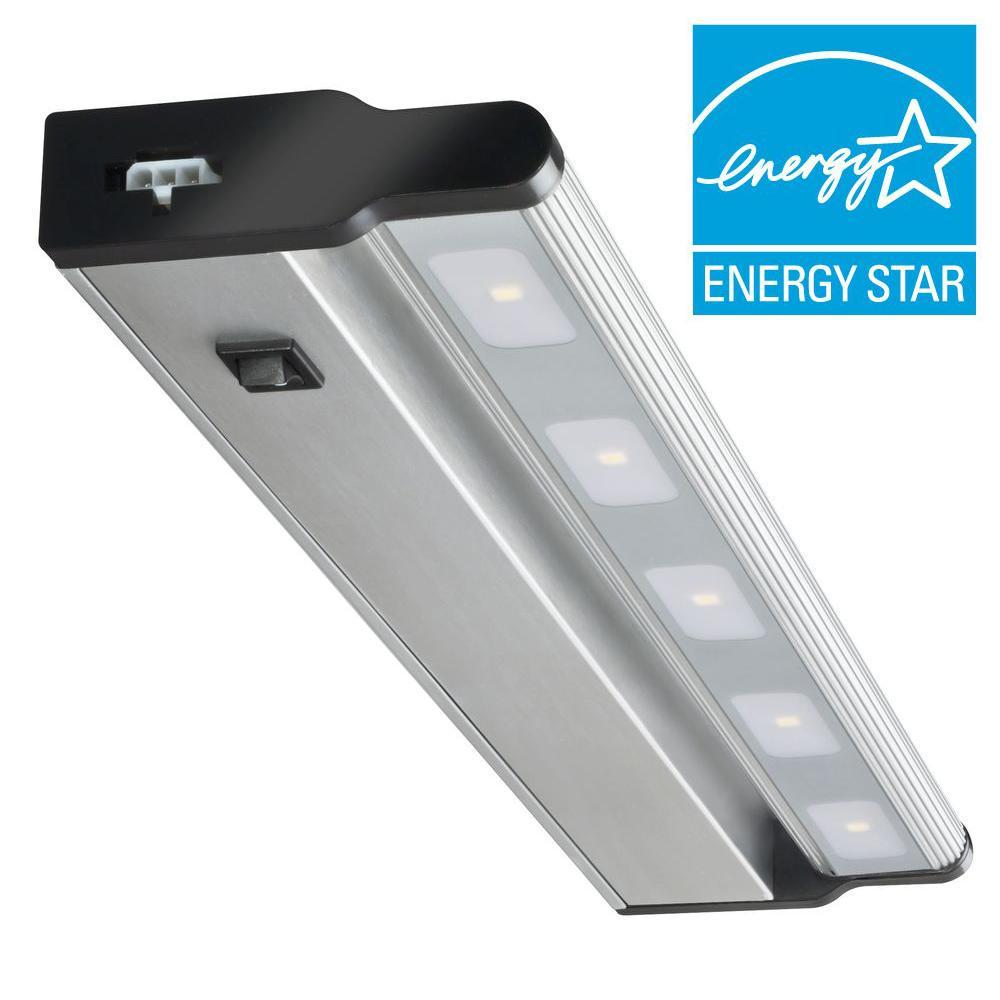 Lithonia Lighting 18 in. LED Brushed Nickel Under Cabinet