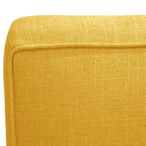Fine Linen French Yellow Armless Chair 5705Lnnfrnylw The Home Depot Squirreltailoven Fun Painted Chair Ideas Images Squirreltailovenorg