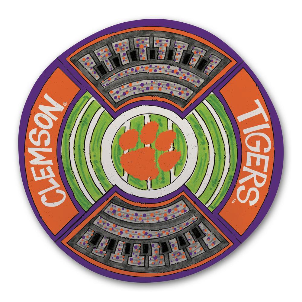 Clemson Football Stadium Melamine Platter