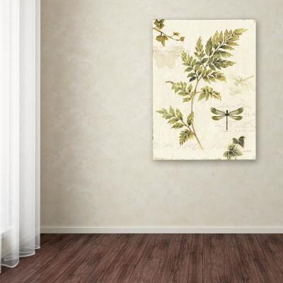 "19 in. x 14 in. ""Ivies and Ferns III"" by Lisa Audit Printed Canvas Wall Art"
