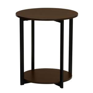 Wondrous Round End Table Walnut End Table With Storage Shelf Beatyapartments Chair Design Images Beatyapartmentscom