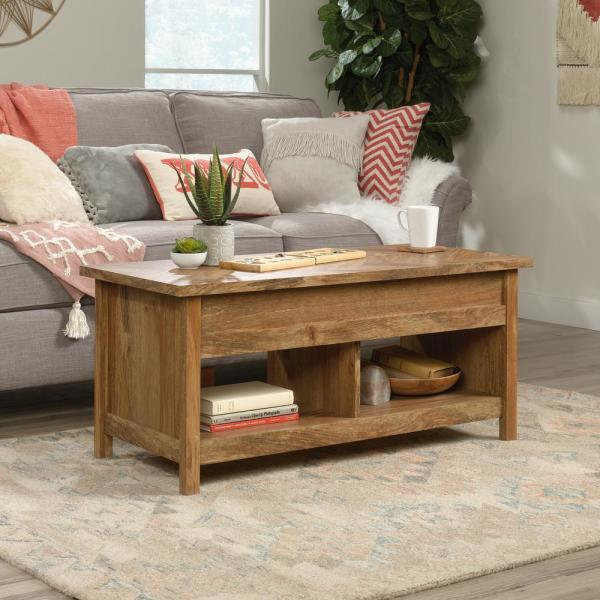 SAUDER Cannery Bridge Sindoori Mango Lift Top Coffee Table 424191   The  Home Depot
