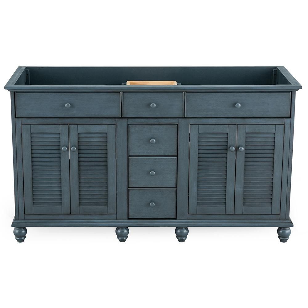 Home Decorators Collection Cottage 60 in. x 21-5/8 in. Vanity Cabinet Only in Harbor Blue