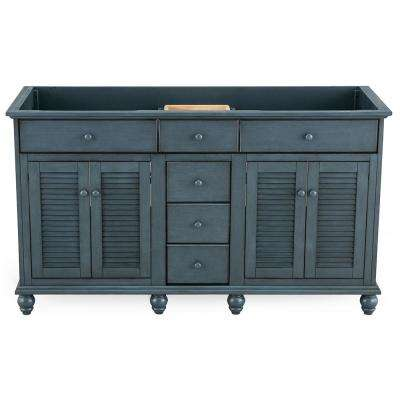 Cottage 60 in. x 21-5/8 in. Vanity Cabinet Only in Harbor Blue