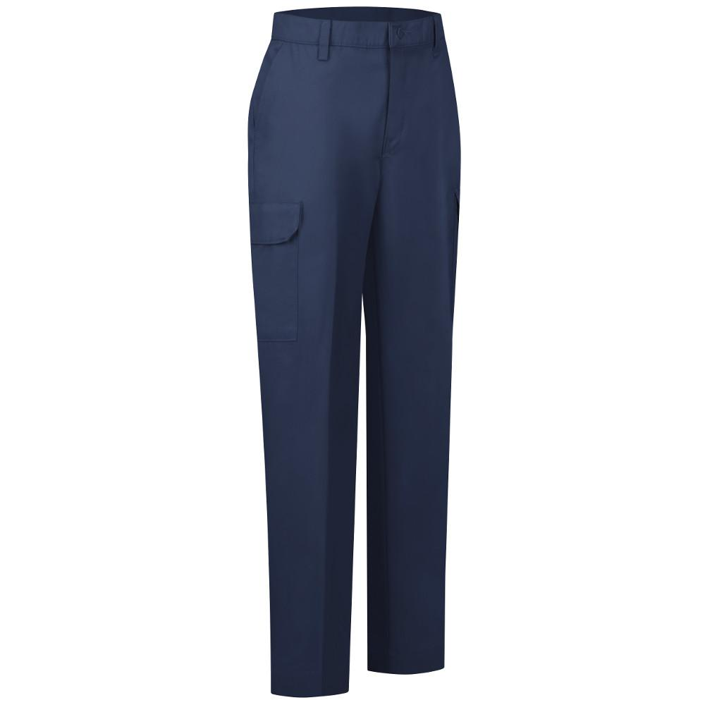 a19d338e47b4 Red Kap Women's Size 10 in. x 32 in. Navy Industrial Cargo Pant ...