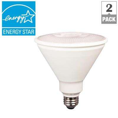 85W Equivalent Bright White PAR38 Dimmable LED Light Bulb (2-Pack)