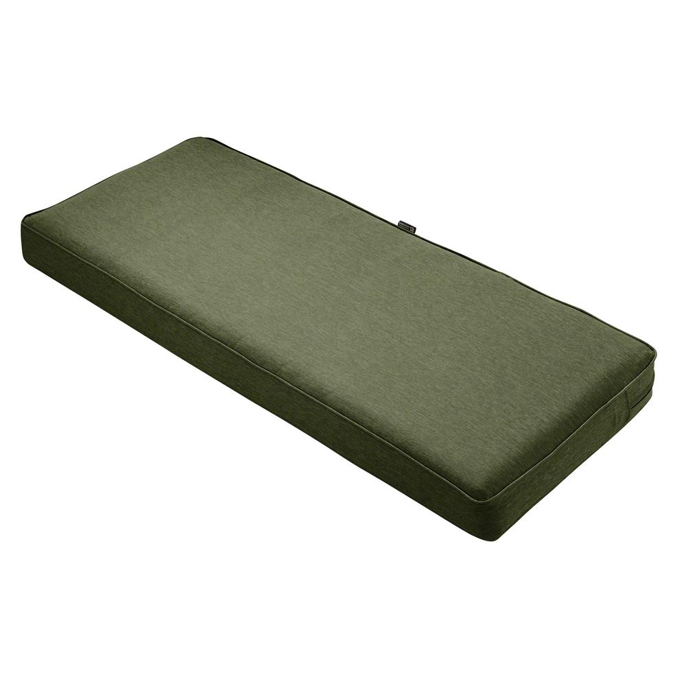 Hampton Bay Ruby Tweed Outdoor Bench Cushion 7672 01227400 The Home Depot
