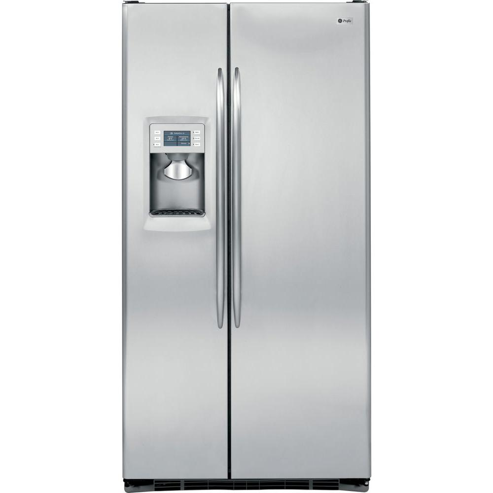 GE Profile 24.6 cu. ft. Side by Side Refrigerator in Stainless Steel, Counter Depth