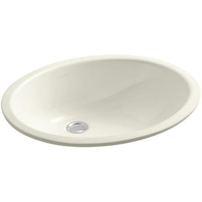 Caxton Vitreous China Undermount Bathroom Sink with Overflow Drain in Biscuit with Overflow Drain