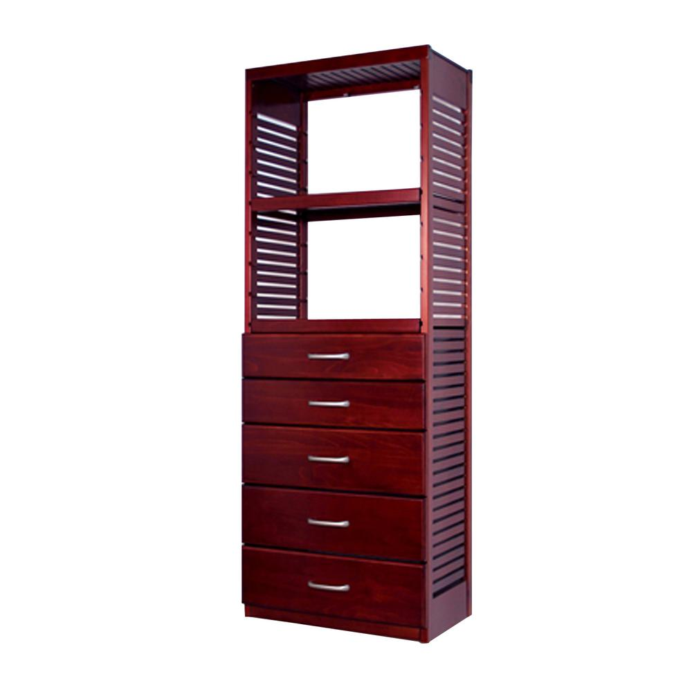 John Louis Home 16 In. Deep Deluxe Tower Kit With 5 Drawers (6 In