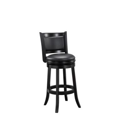Augusta 29 in. Black Swivel Cushioned Bar Stool