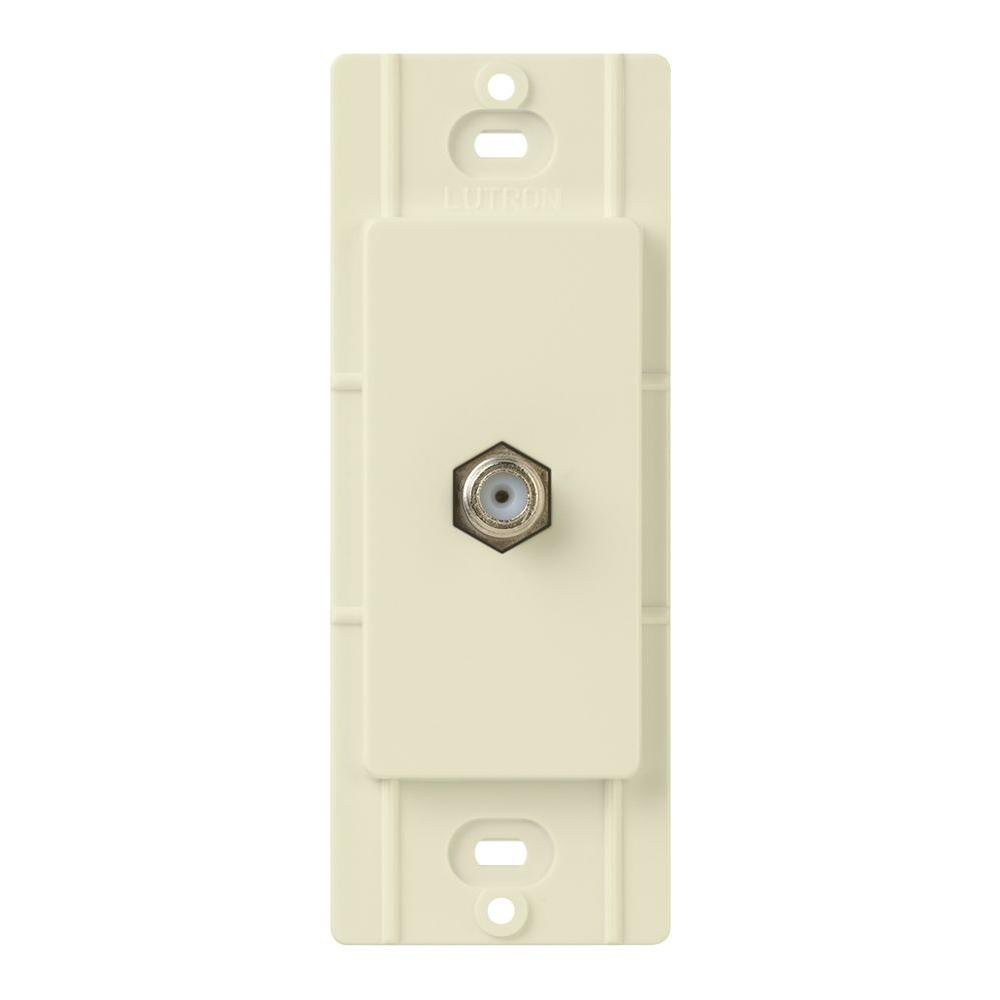 Claro Coaxial Cable Jack, Almond
