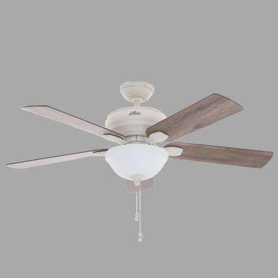 Matheston 52 in. Indoor/Outdoor Cottage White Ceiling Fan with Light Kit