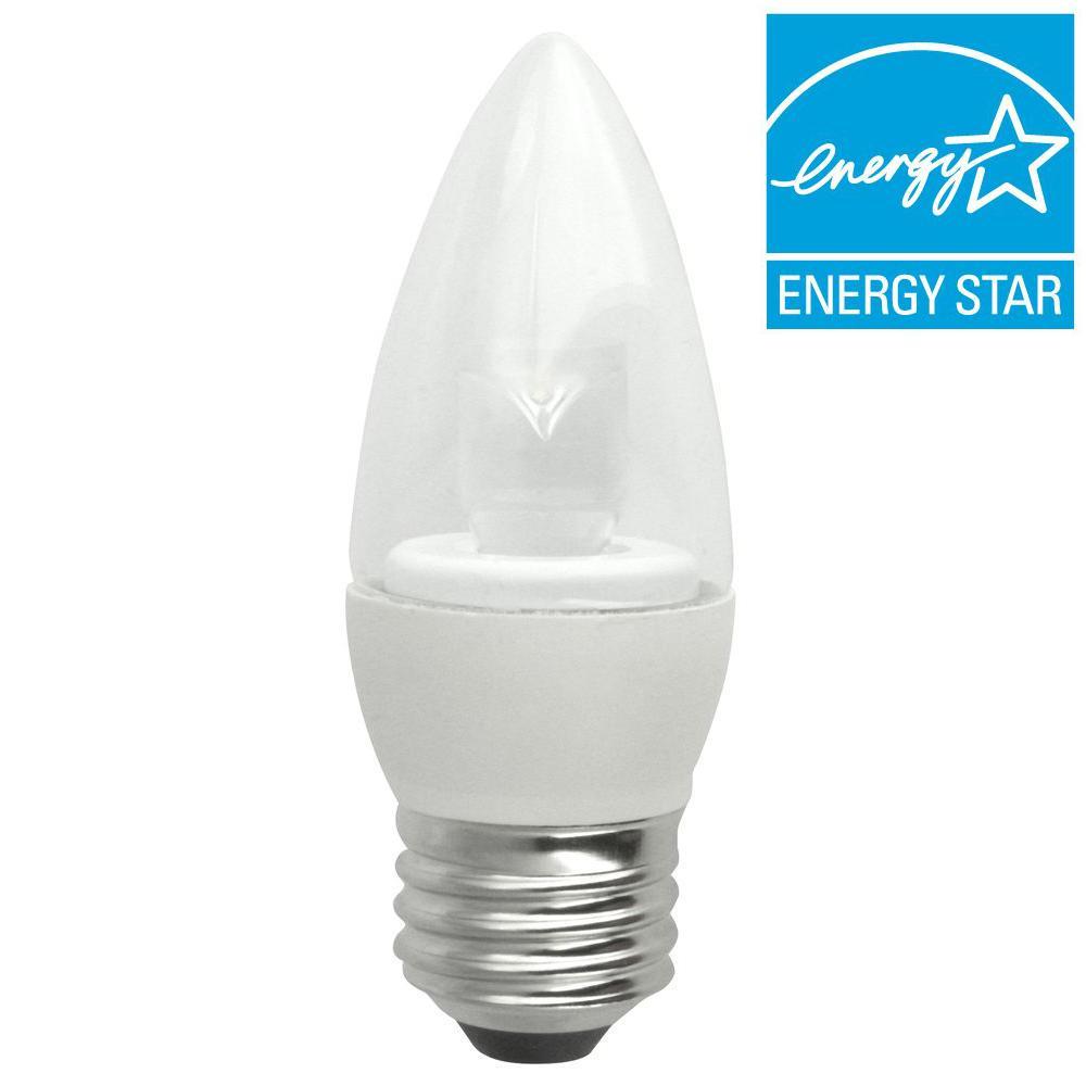 TCP 40W Equivalent Soft White (2700K) Blunt Tip Medium Base Deco LED Light Bulb (2-Pack)