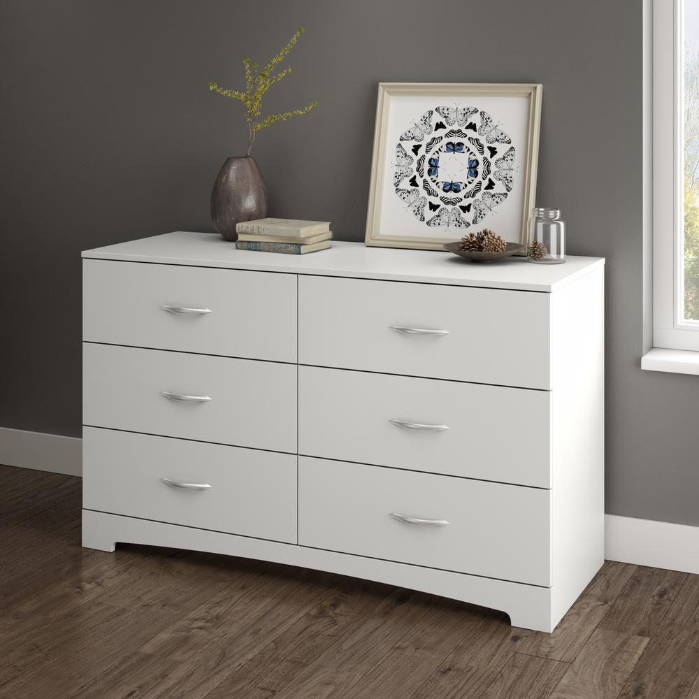 Step One 6-Drawer Pure White Dresser