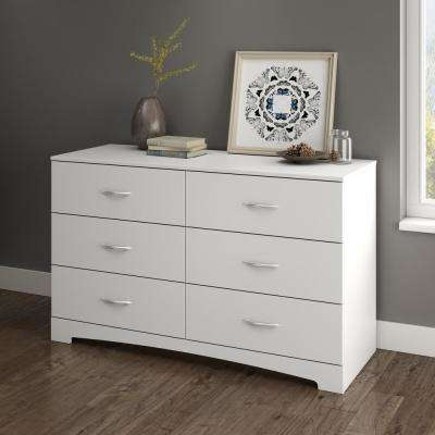 Step One 6-Drawer Pure White Dresser