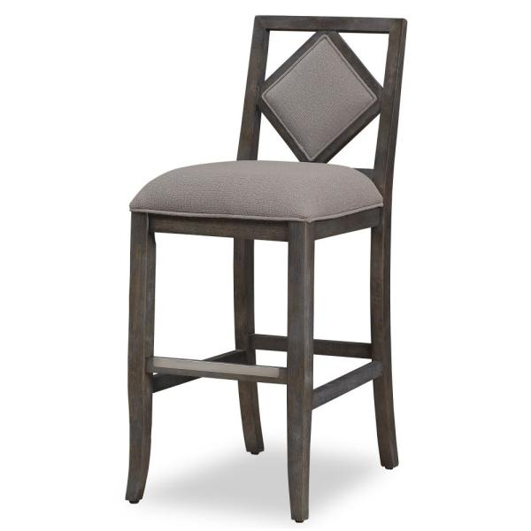 American Woodcrafters Aislyn 30 in. Drift Brown Stationary Bar Stool B2-235-30F