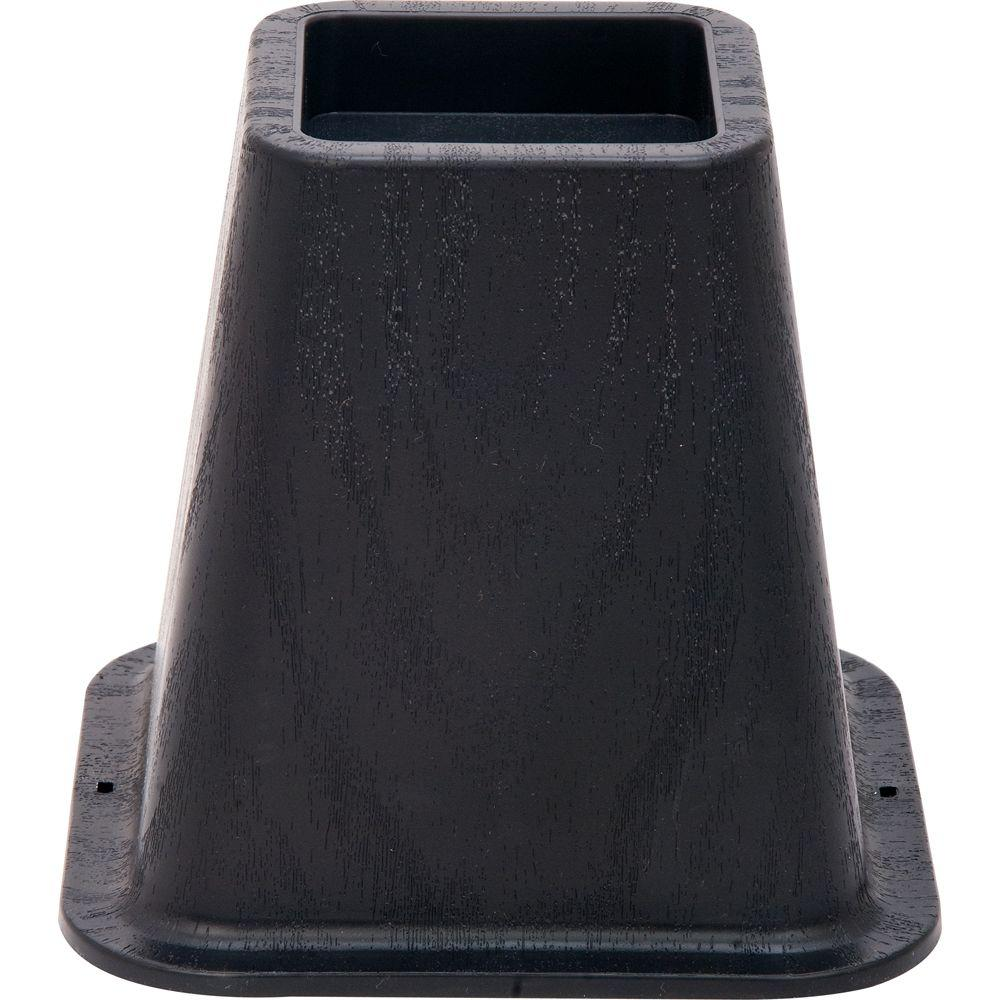 6 in. Black Molded Bed Risers with 1200 lb. Load Rating