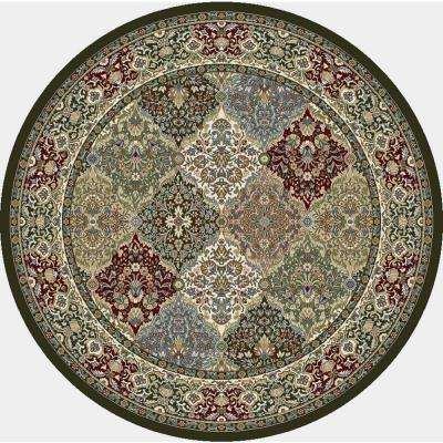 Ancient Garden Multi Panel 5 ft. x 5 ft. Round Area Rug