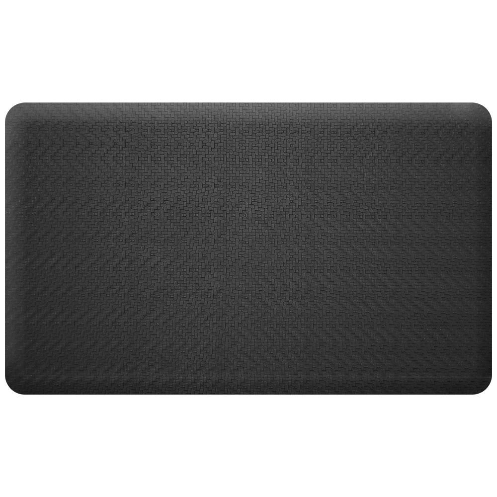 NewLife Designer Sisal Black 18 in. x 30 in. Anti-Fatigue Comfort Mat