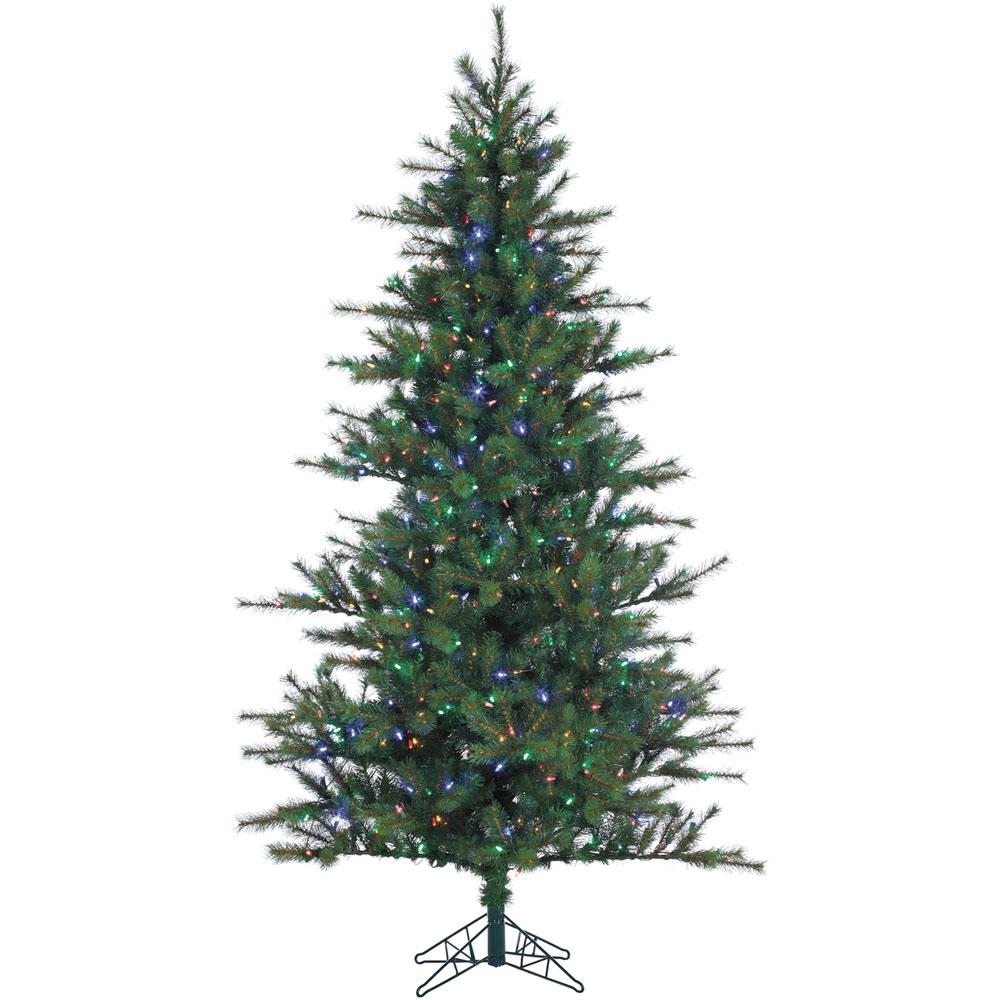 10 ft. Pre-lit LED Southern Peace Pine Artificial Christmas Tree with