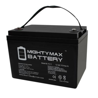 12-Volt 110 Ah Rechargeable Sealed Lead Acid (SLA) Battery