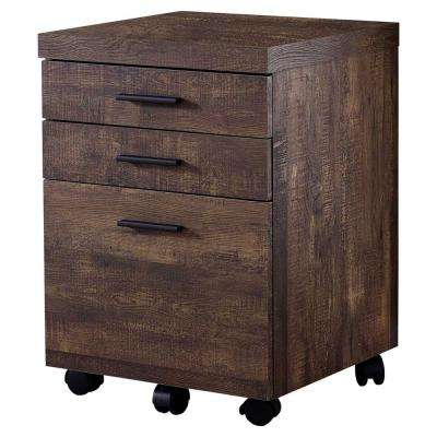 Jasmine 1-Piece Brown Filing Cabinet
