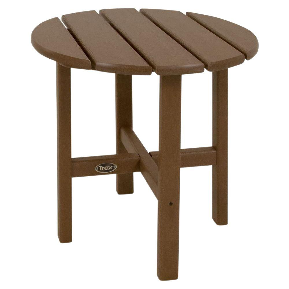 Cape Cod 18 in. Tree House Round Plastic Outdoor Patio Side