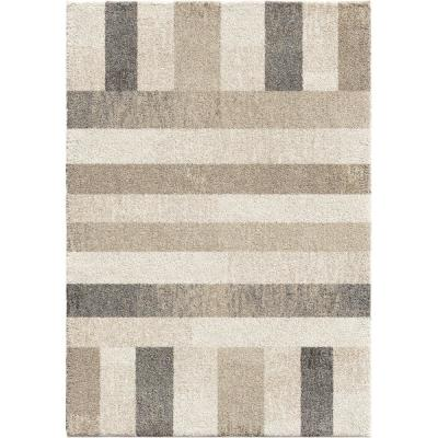 Portman Stripes Ivory 5 ft. 3 in. x 7 ft. 6 in. Area Rug