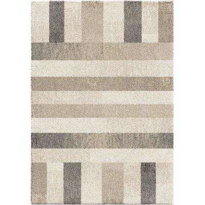 Portman Stripes Ivory 7 ft. 10 in. x 10 ft. 10 in. Area Rug