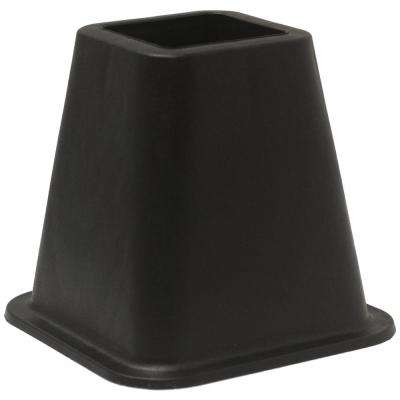 Black Plastic Bed Risers(Set of 4)