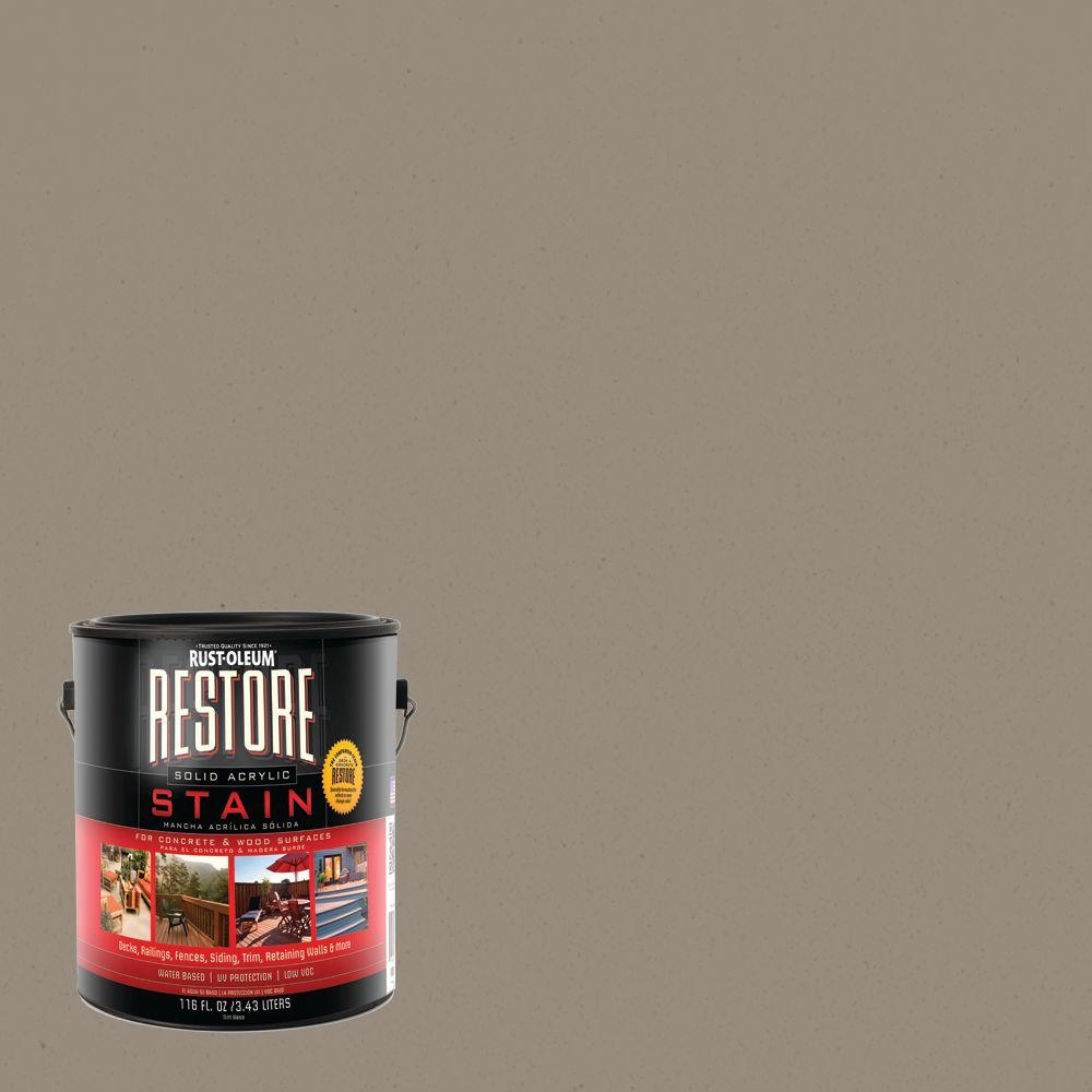 Rust-Oleum Restore 1 gal. Brownstone Solid Acrylic Exterior Concrete and Wood Stain