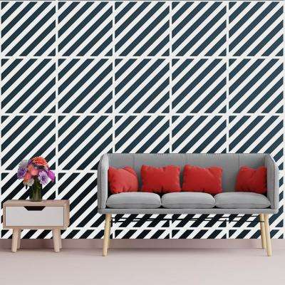 3/8 in. x 23-3/4 in. x 23-3/4 in. Large Rothwell White Architectural Grade PVC Decorative Wall Panels