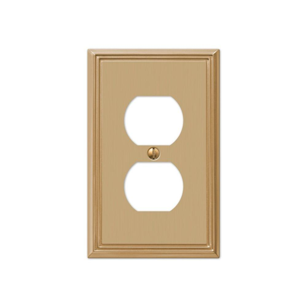 Hampton Bay Rhodes 1 Duplex Wall Plate - Brushed Bronze Cast ...