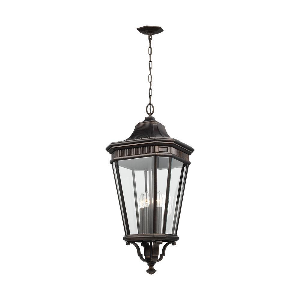 Cotswold Lane Grecian Bronze 4-Light Hanging Lantern