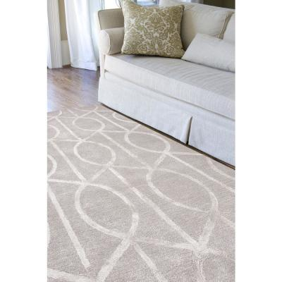 Hand-Tufted Drizzle 12 ft. x 15 ft. Trellis and Chain Area Rug
