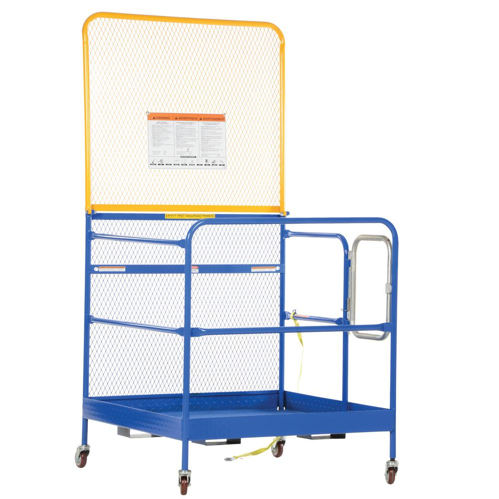 Vestil 84 in. Expanded Back 48 in. x 48 in. Work Platform with Casters