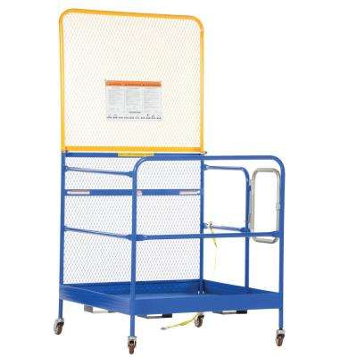 84 in. Expanded Back 48 in. x 48 in. Work Platform with Casters