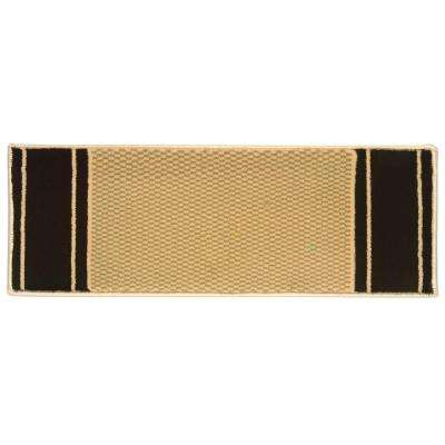 Kurdamir Washington Brown 9 in. x 33 in. Stair Tread Cover