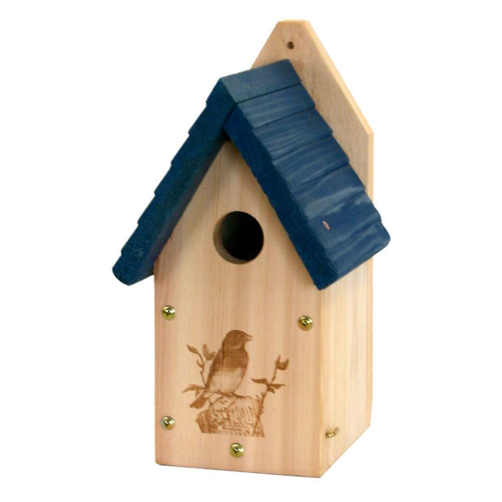 Woodlink Woodlink Garden Bluebird Bird House, Brown and Blue